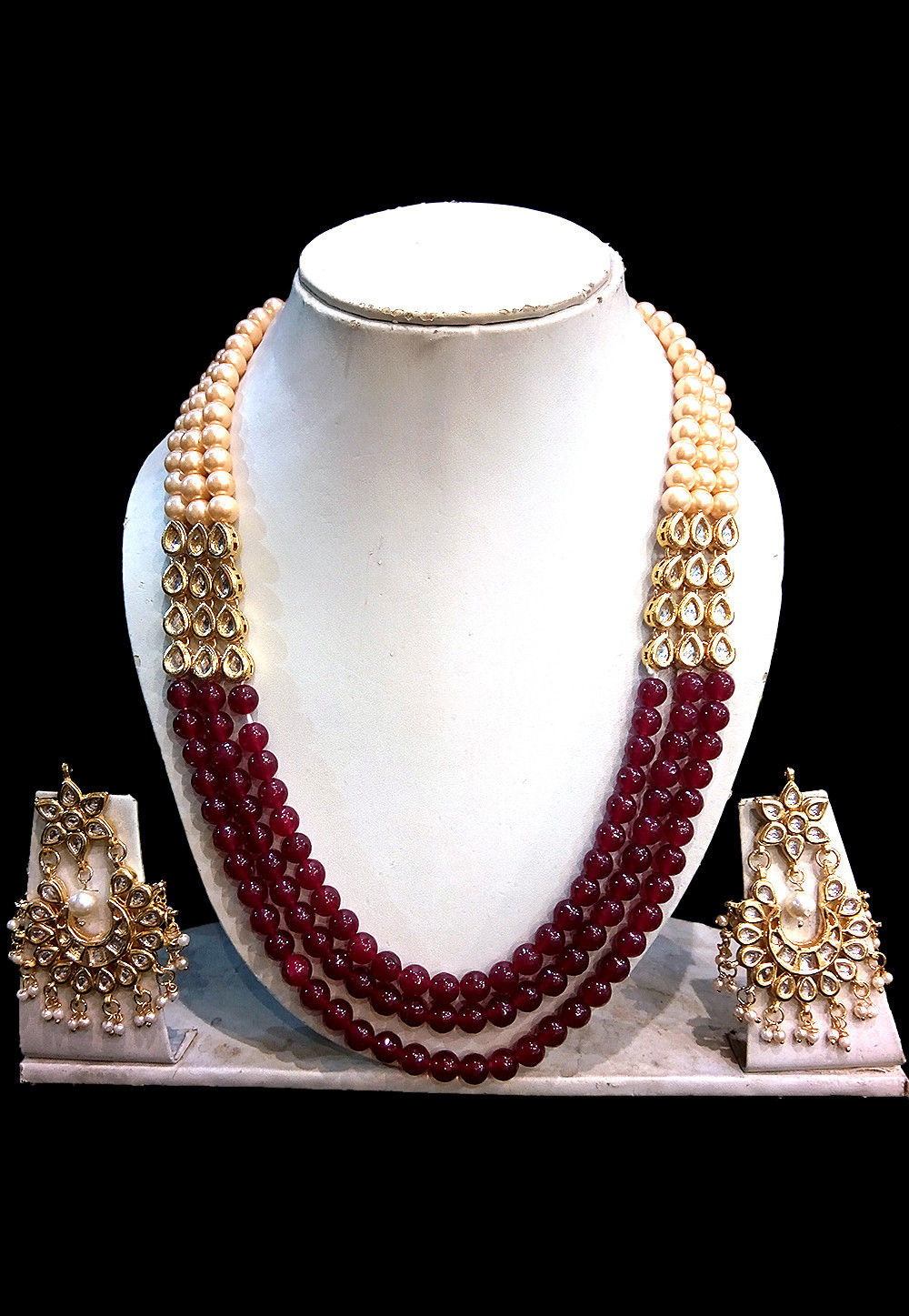 Beaded Layered Necklace Set