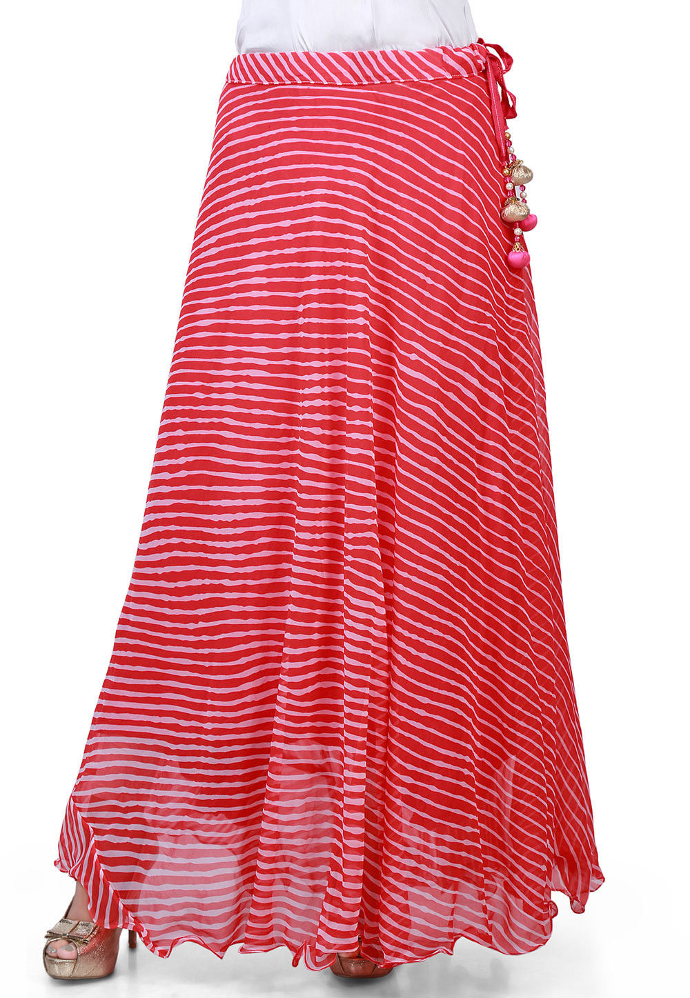Lehariya Georgette Long Skirt in Pink