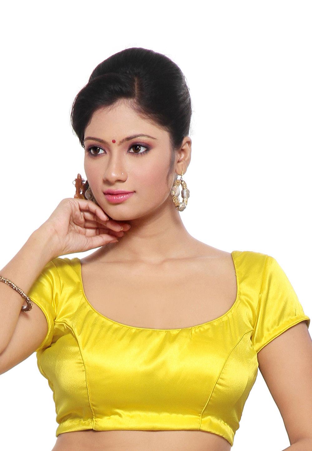 Satin Blouse in Yellow