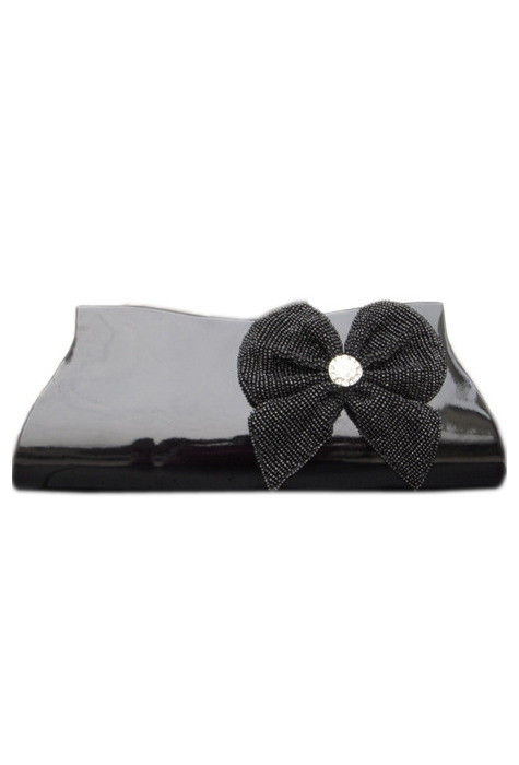 Dupion Silk Clutch Bag in Black