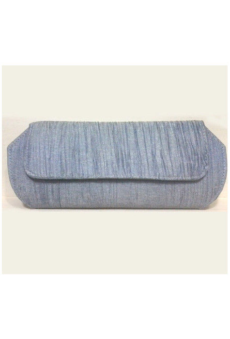 Crush Silk Clutch Bag in Grey