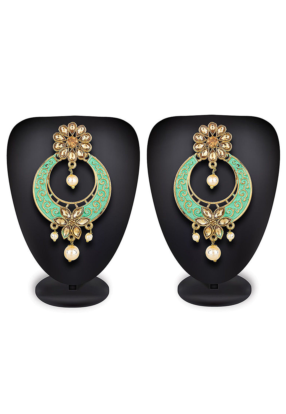 Enamel Filled Stone Studded Earring