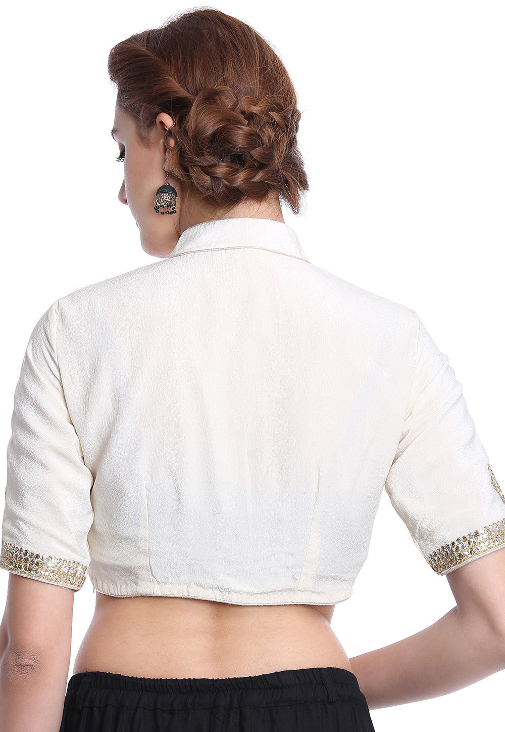 201a6e66d4cb3b ... Hand Embroidered Crepe Blouse in Off White. Zoom. View Similar