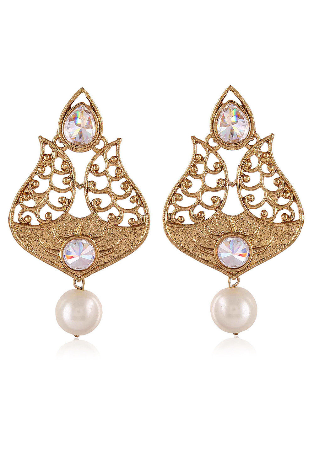 Stone Studded Dangler Earring