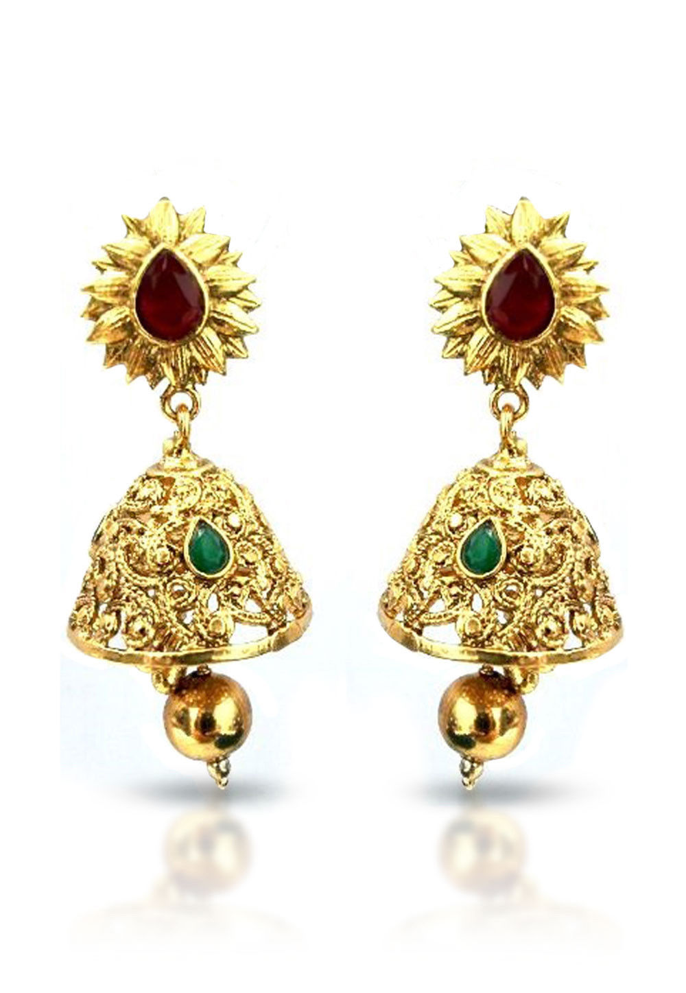 Stone Studded Earring in Golden