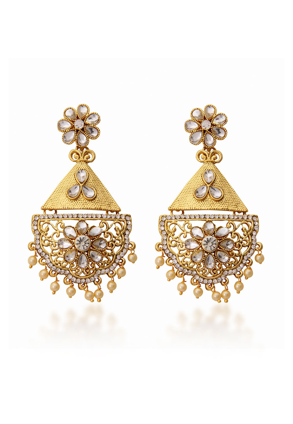 Stone Studded Dangle Earring