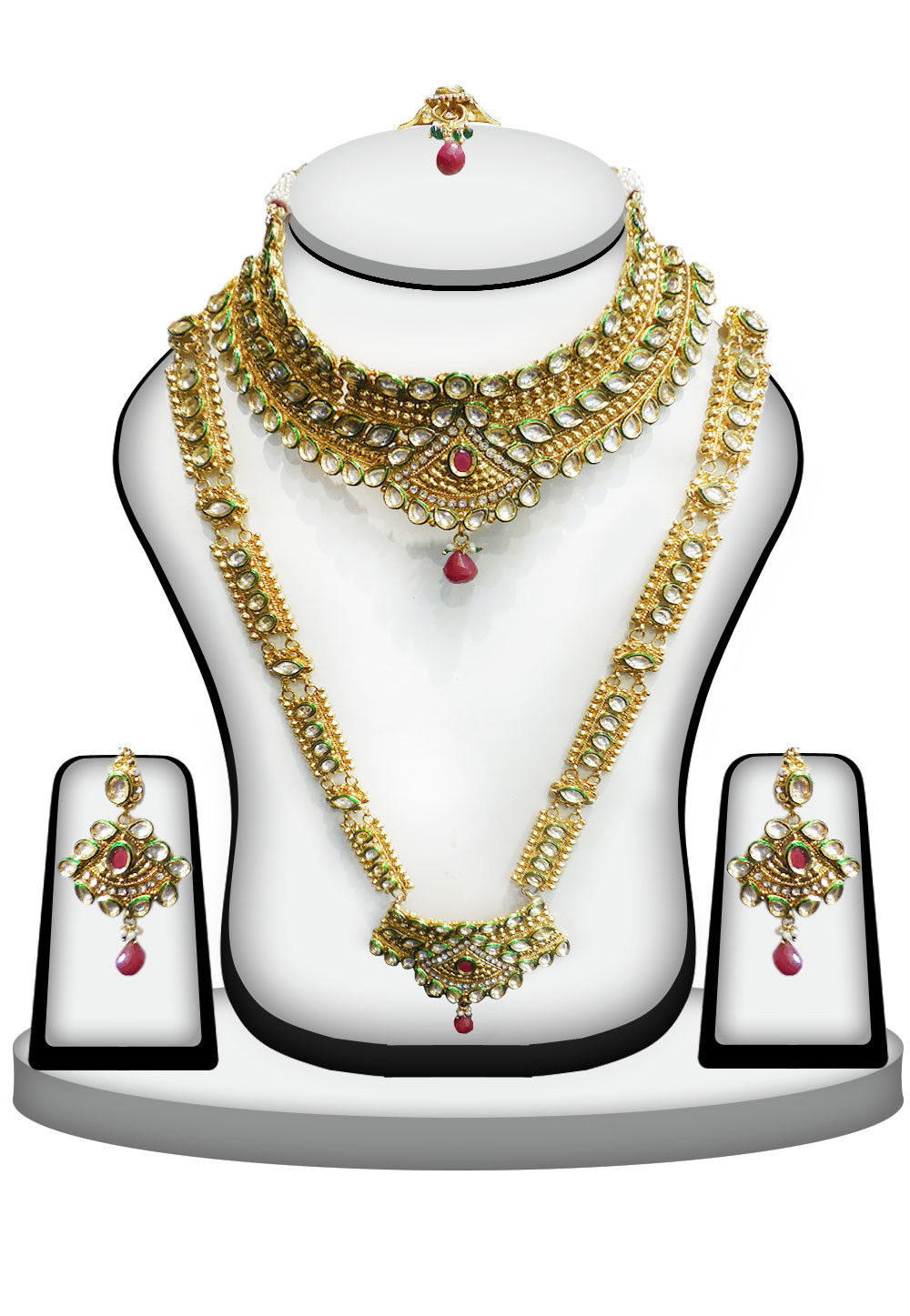 Meenakari Kundan Necklace Set