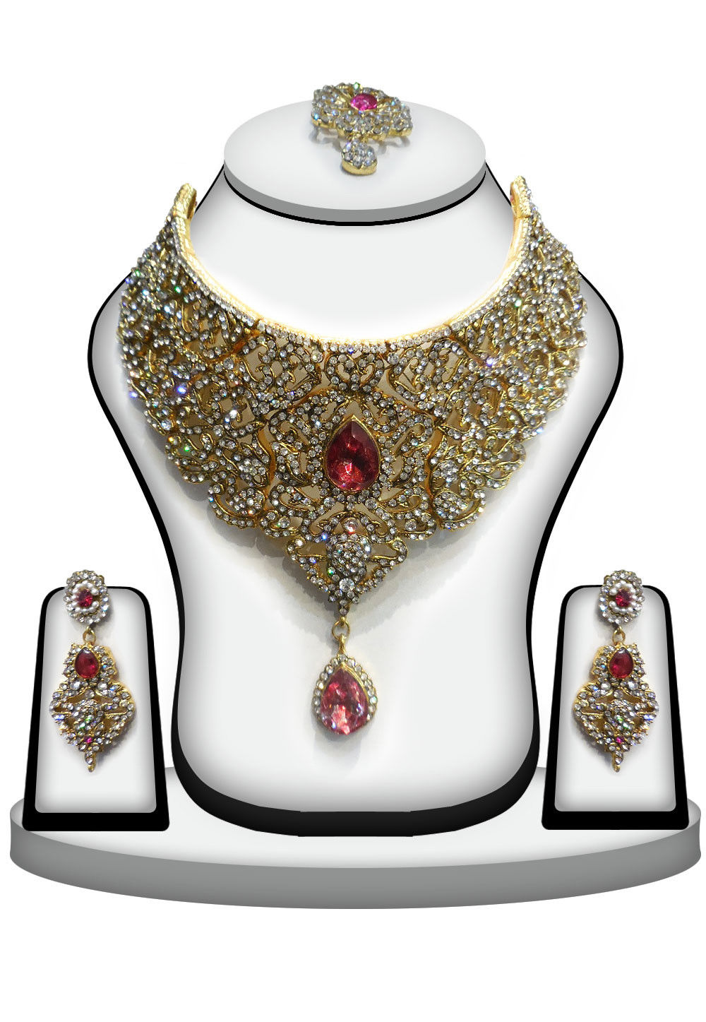 Stone Studded Bridal Necklace Set