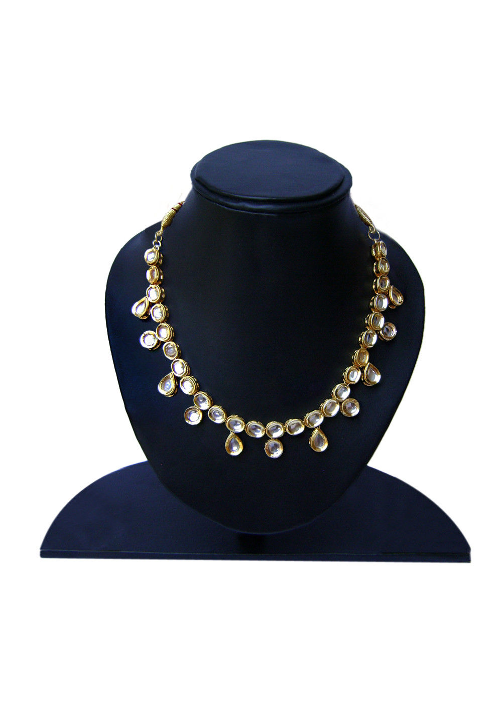 Kundan Necklace in White and Golden