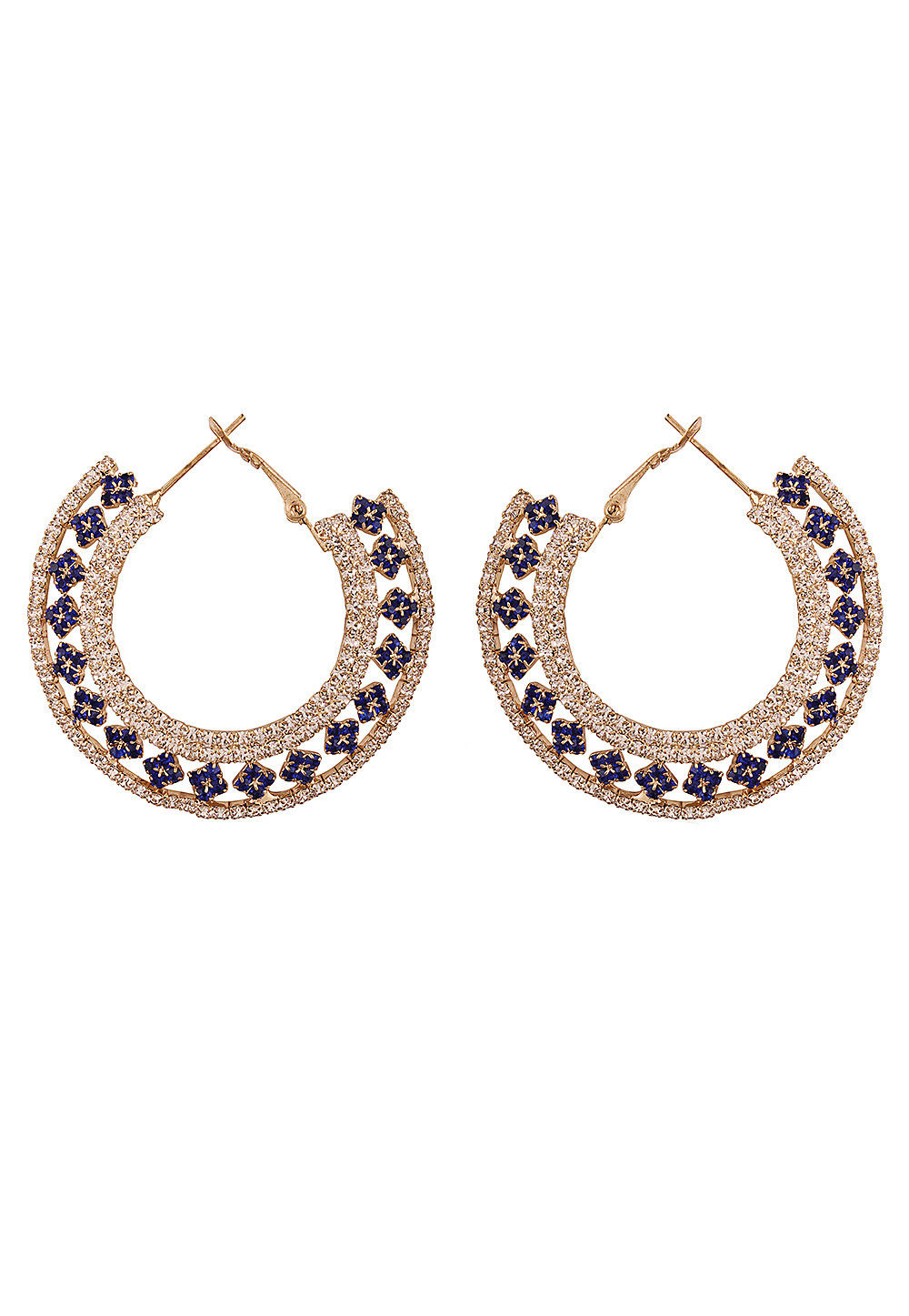 Stone Studded Hoops