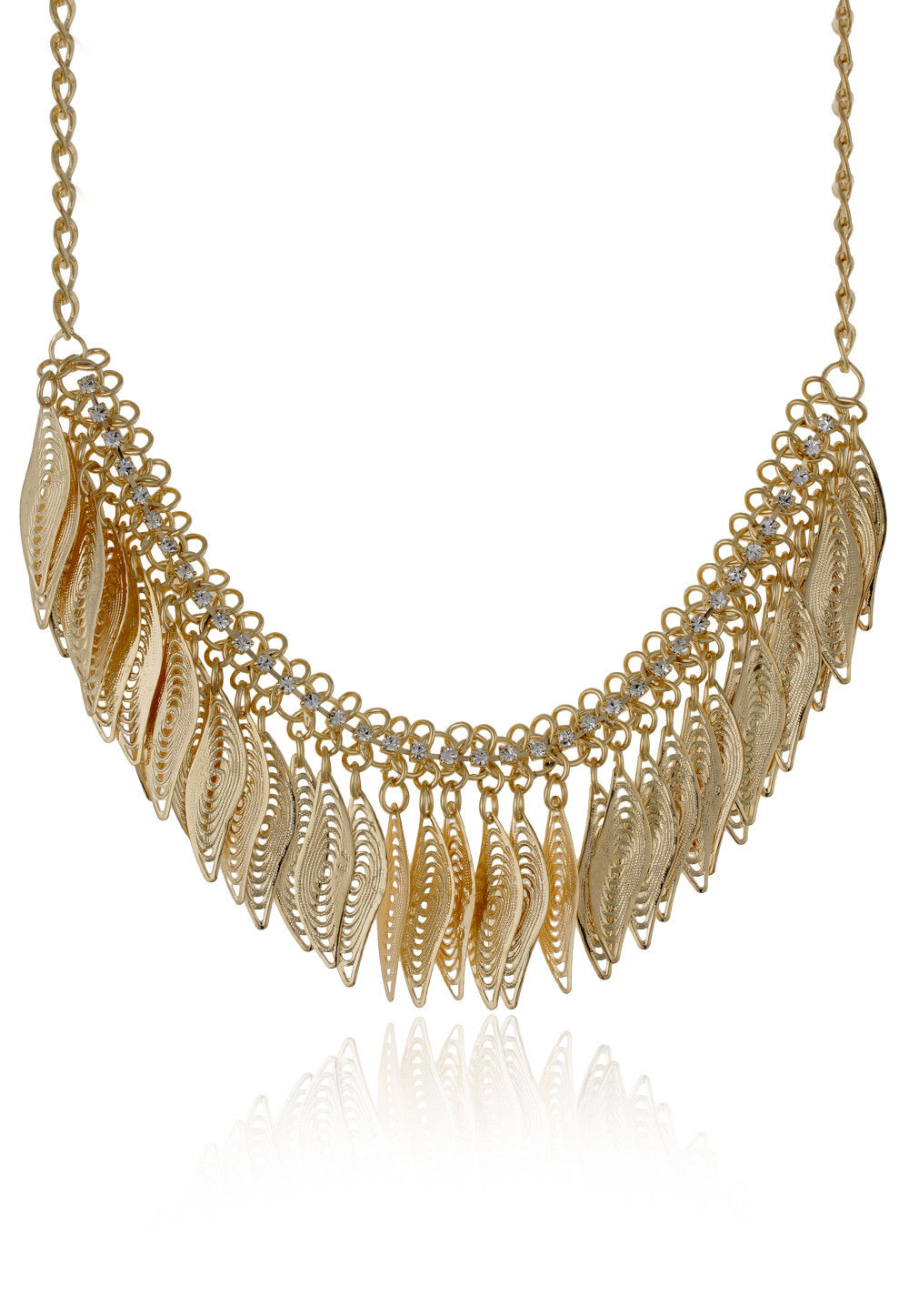 Metallic Necklace in Golden