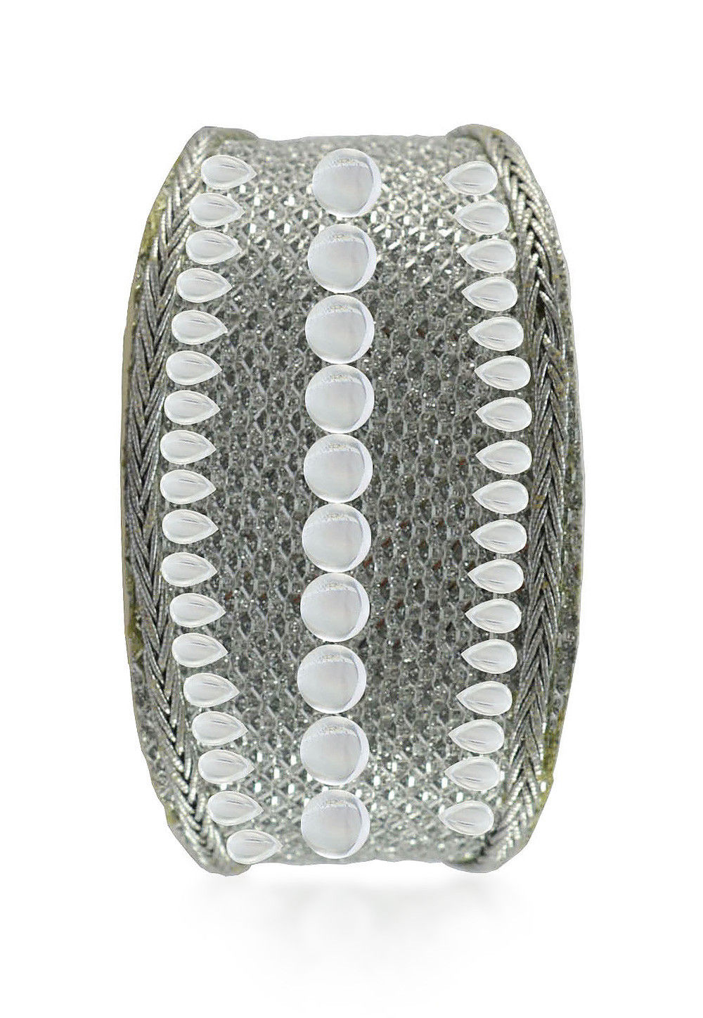 Stone Studded Adjustable Cuff Bracelet