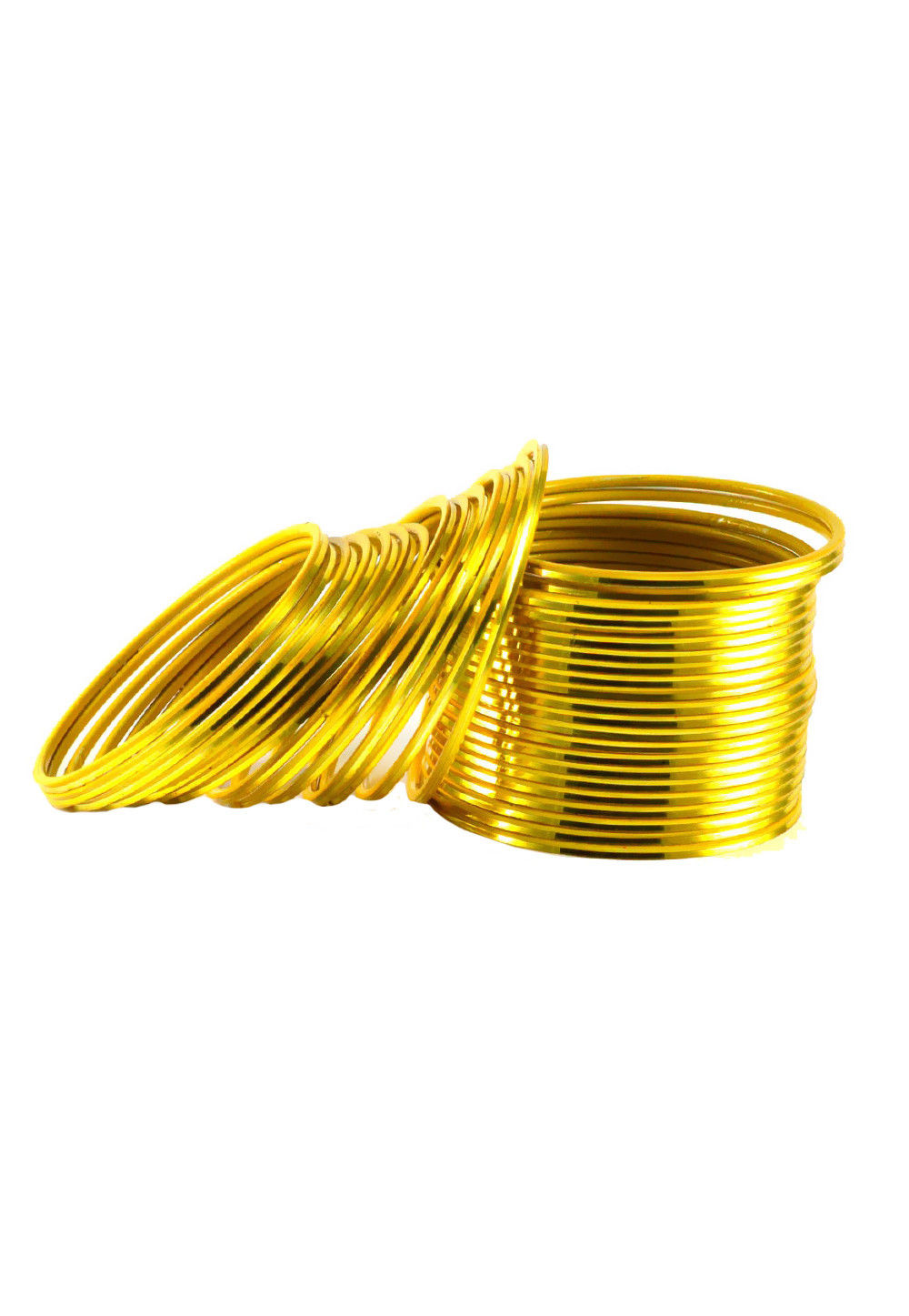 Metallic Bangles in Yellow