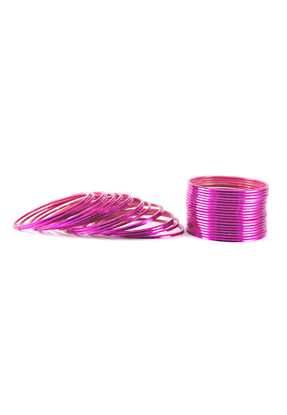 Metallic Bangles in Fuchsia