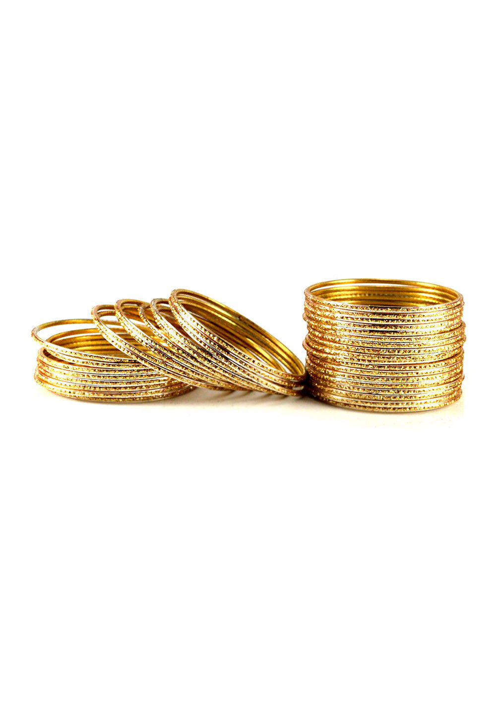 Metallic Bangle Set in Golden