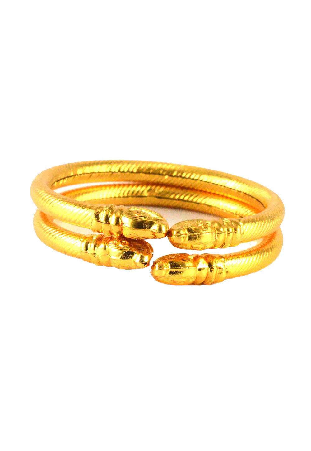 Golden Adjustable Bangle Set
