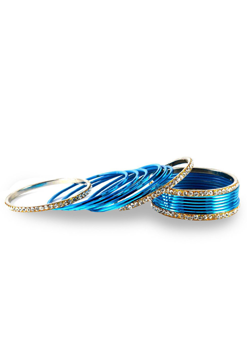 Stone Studded Bangles in Blue