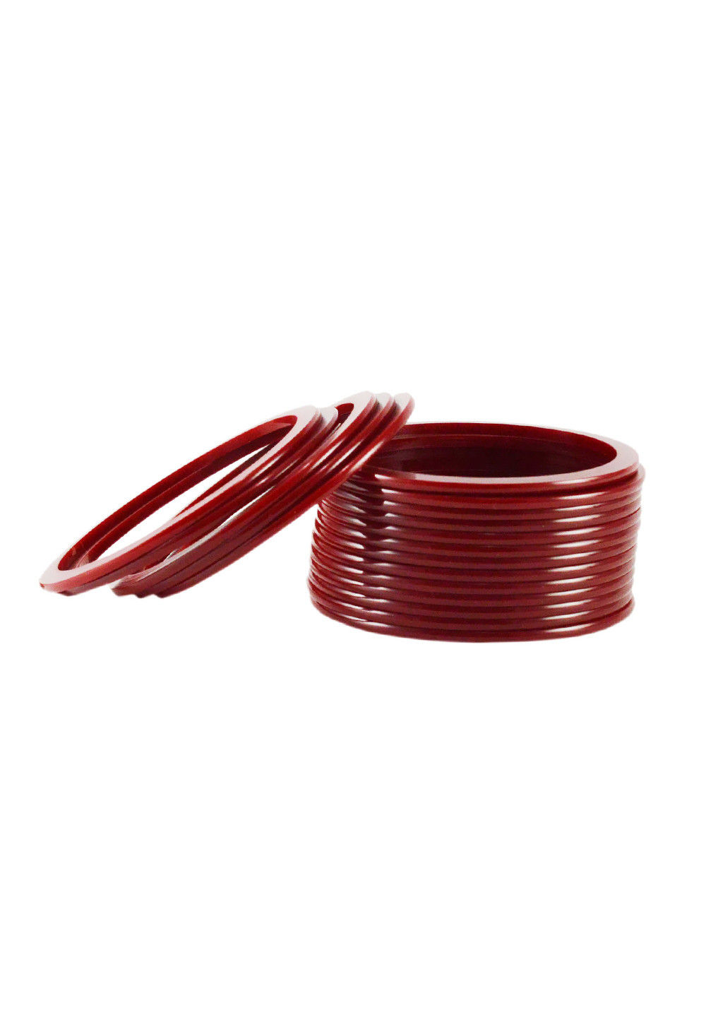 Plain Bangles Set in Maroon