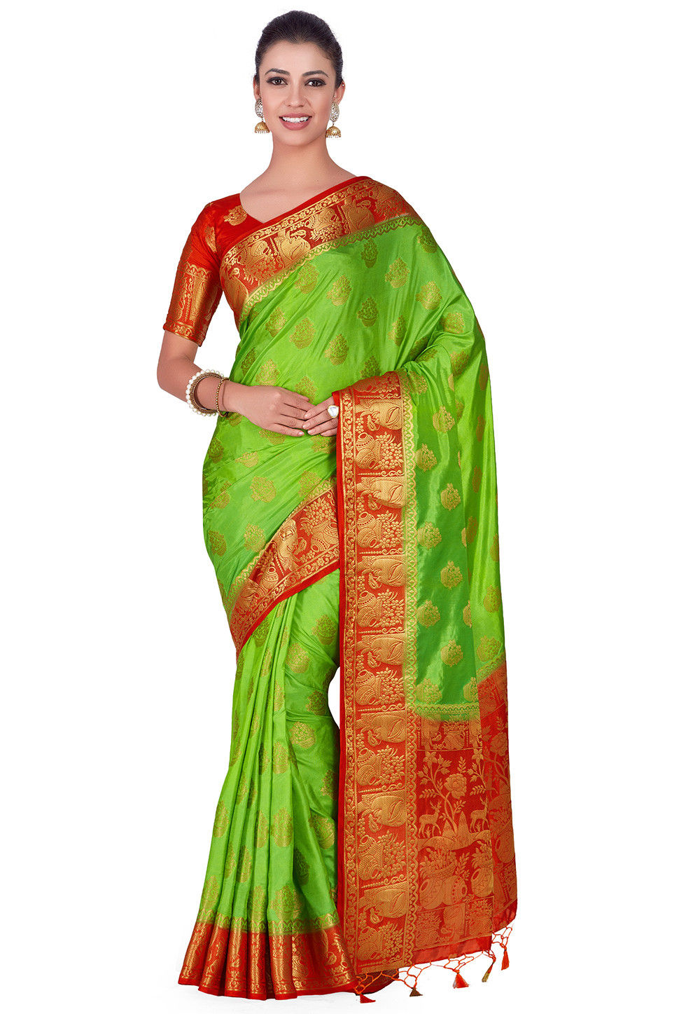 Kanchipuram Saree in Light Green