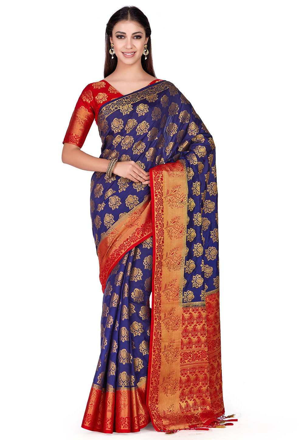 Kanchipuram Saree in Navy Blue