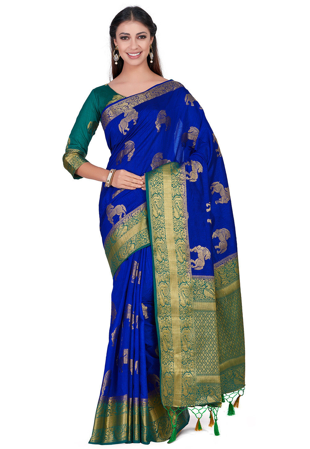 Kanchipuram Saree in Royal Blue