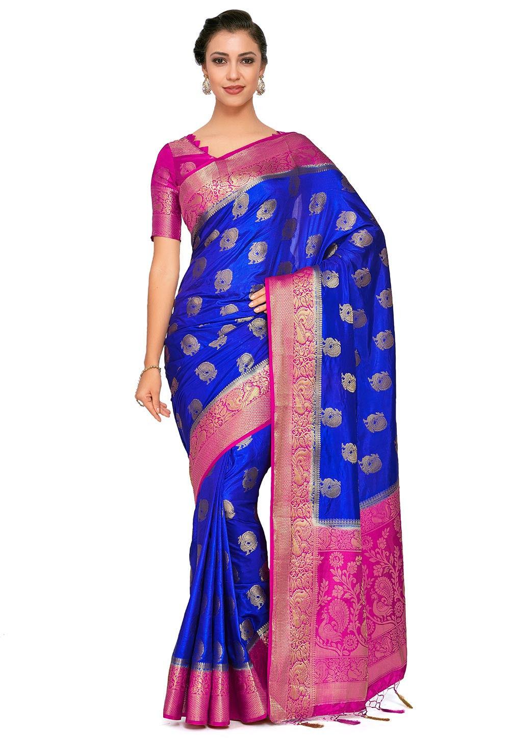 Kanchipuram Saree in Royal Blue
