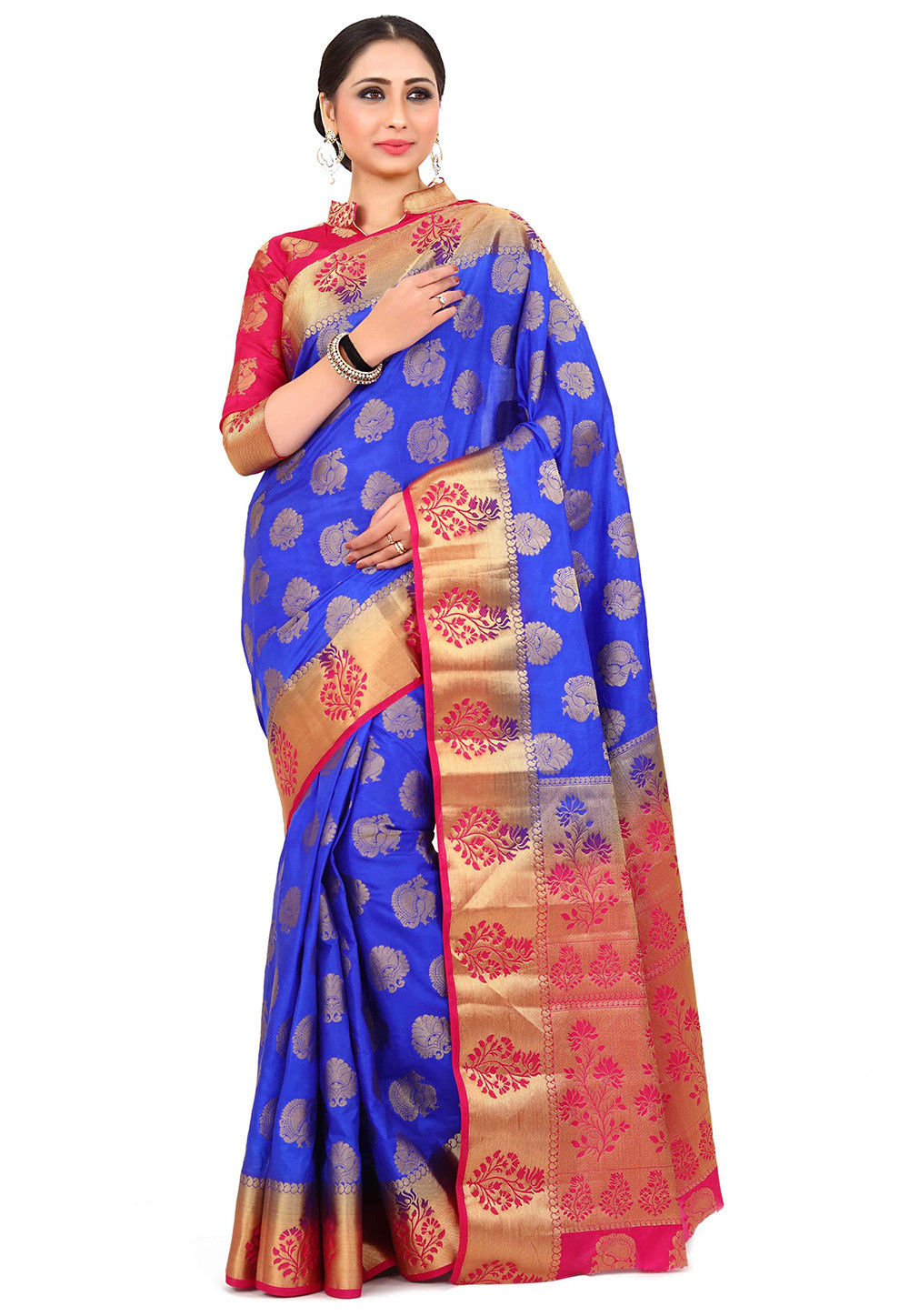 Kanchipuram Silk Saree in Royal Blue