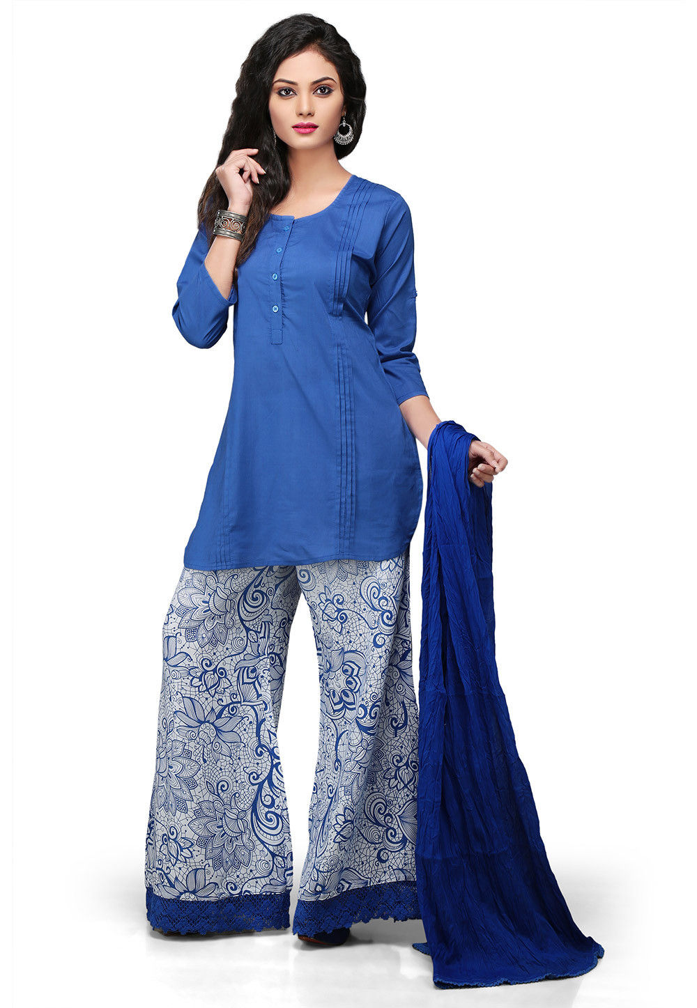 Pakistani Cotton Suit in Blue