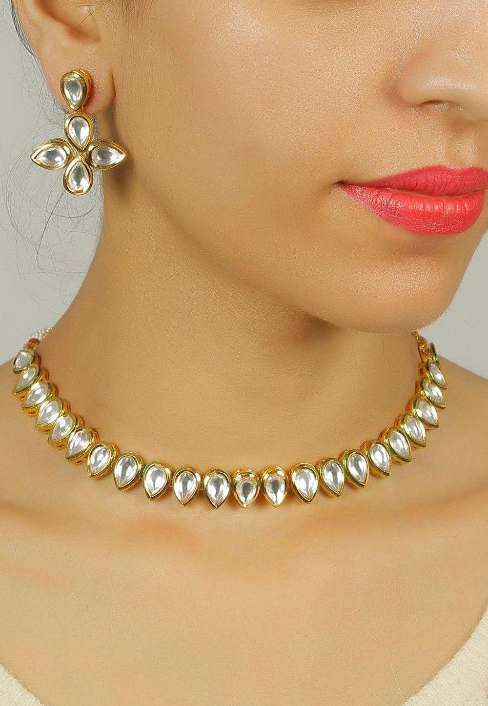 ae336d70255 ... Jewelry; Kundan Necklace Set. Zoom