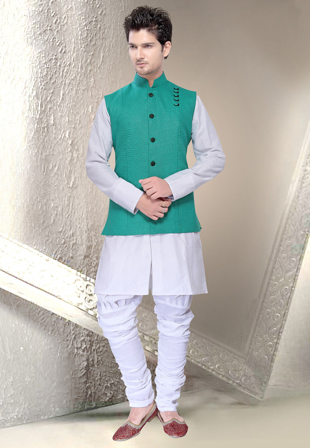 Linen - Men\'s Ethnic Wear: Buy Indian Traditional Mens Dresses Online