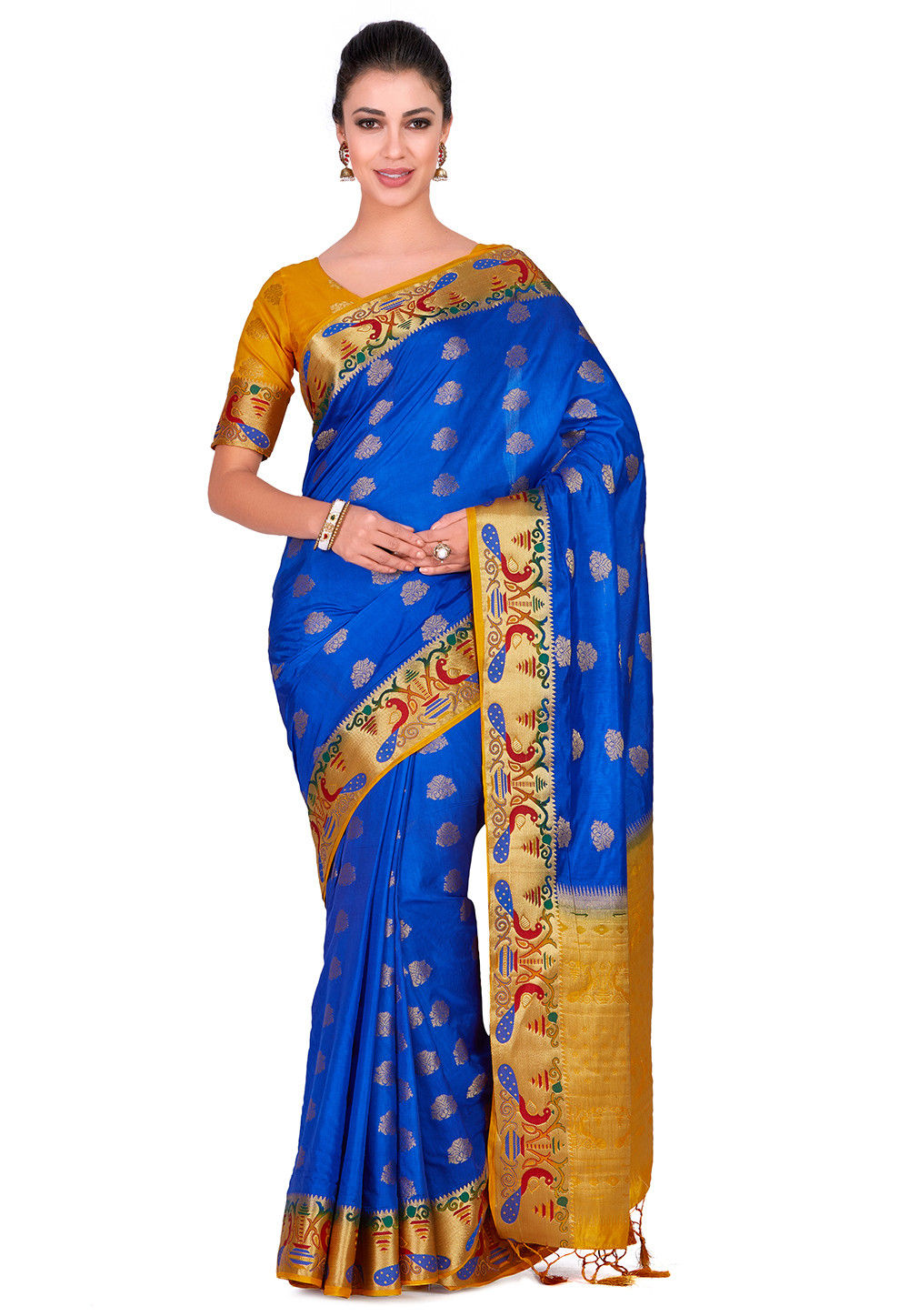 Paithani Saree in Royal Blue