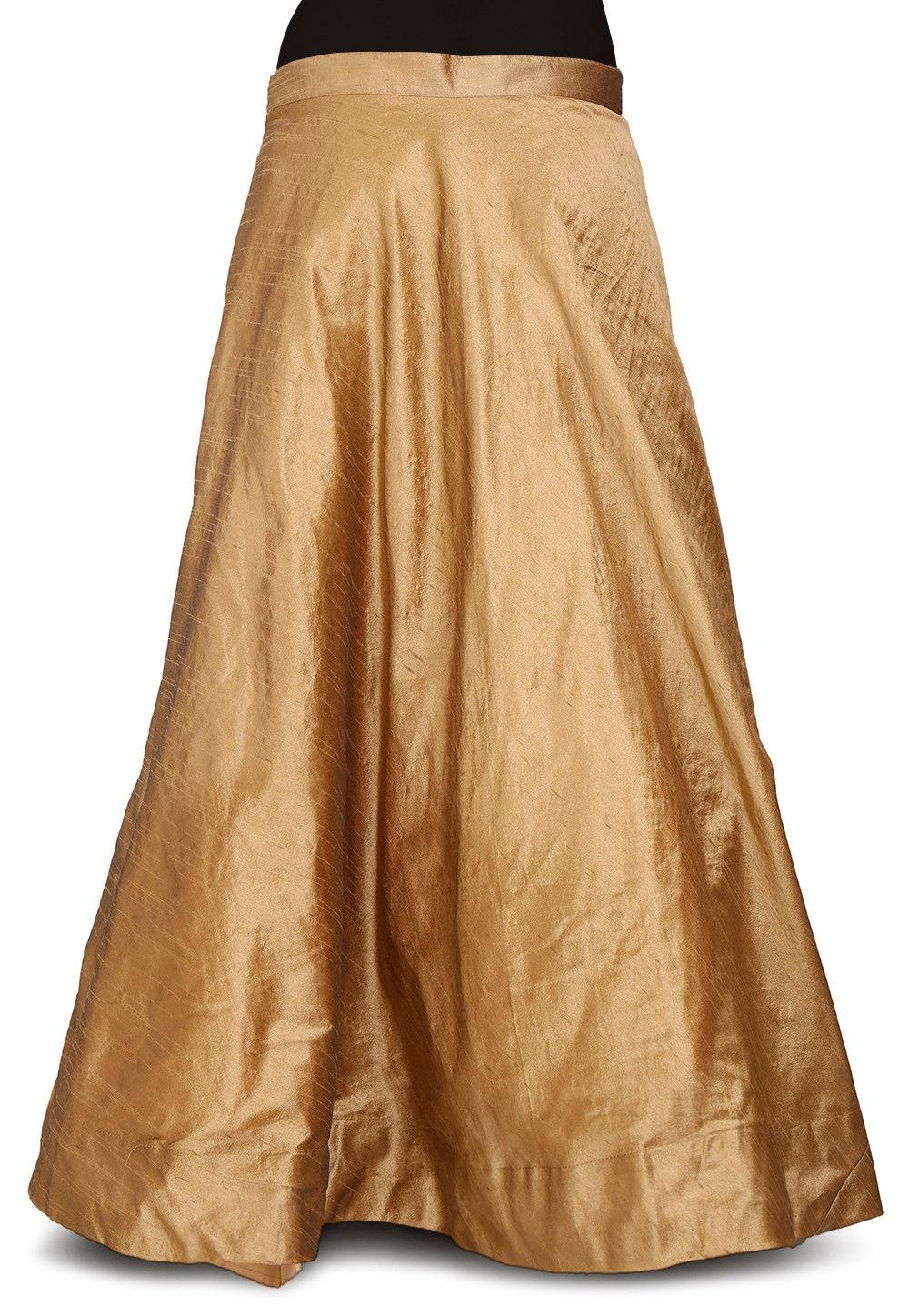 f3a1496b1e00 ... Plain Dupion Silk Skirt in Dark Beige. Zoom. View Similar