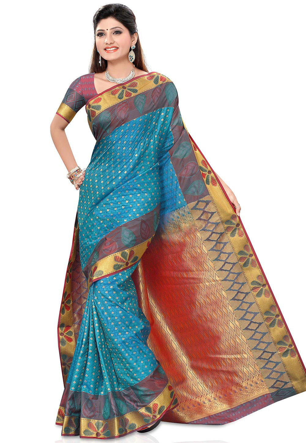 Kanchipuram Saree in Blue