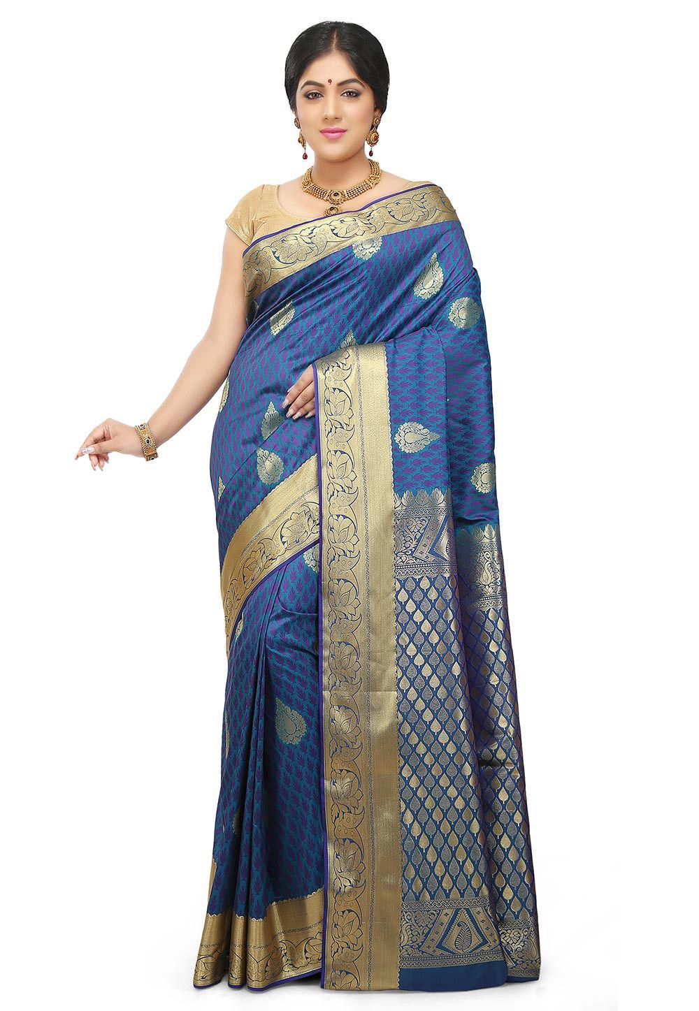 Kanchipuram Saree in Blue