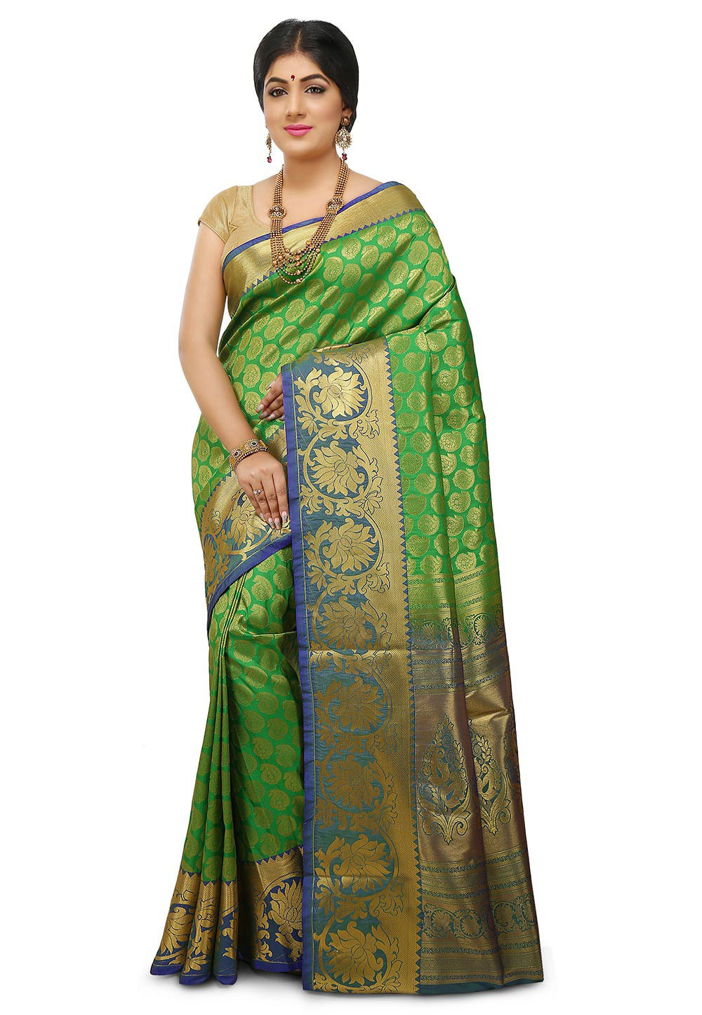 Kanchipuram Saree in Green