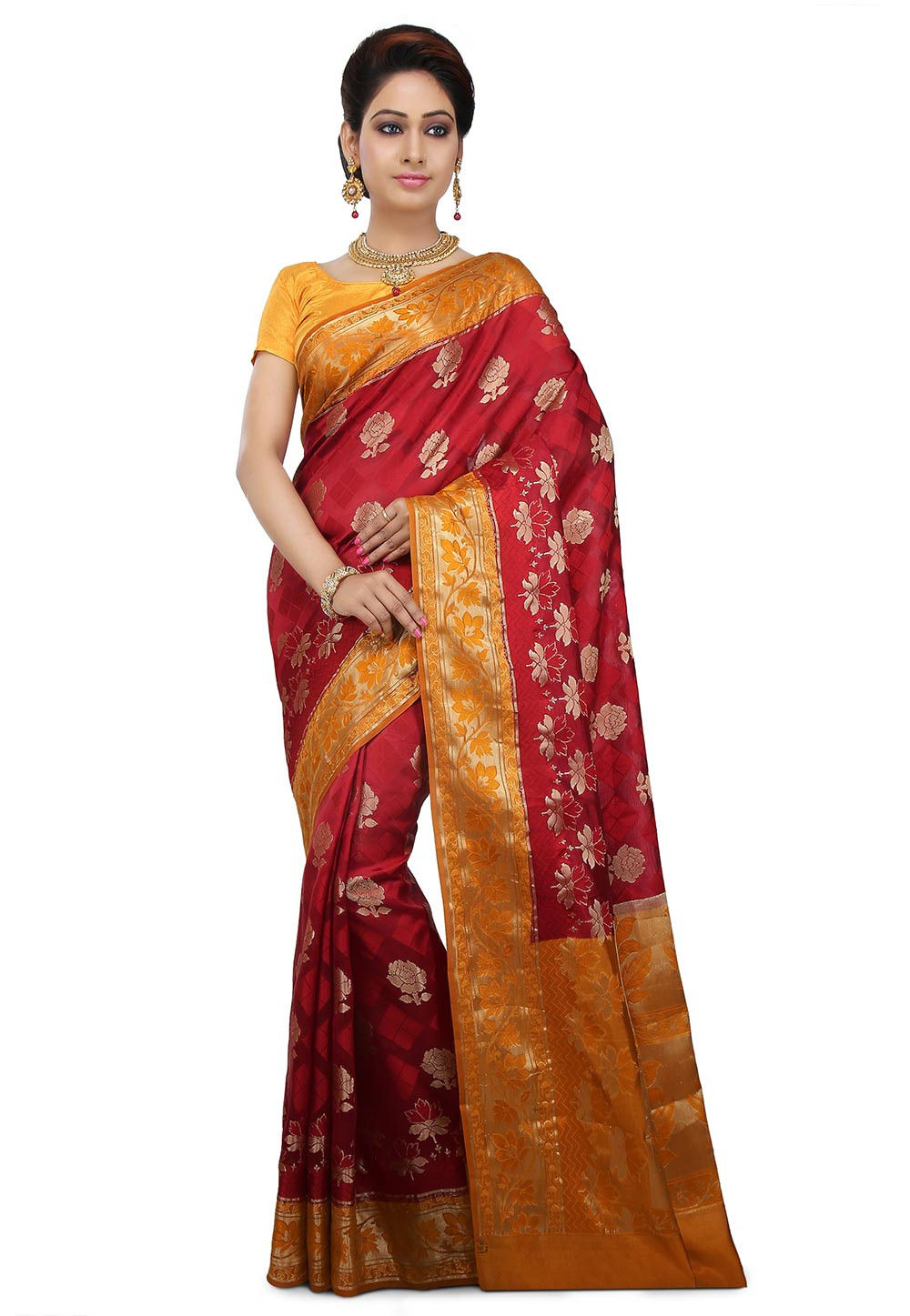 Pure Banarasi Silk Saree in Red