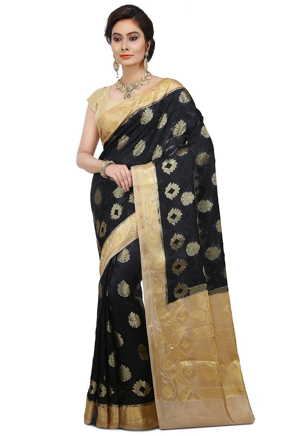Pure Banarasi Silk Saree in Black