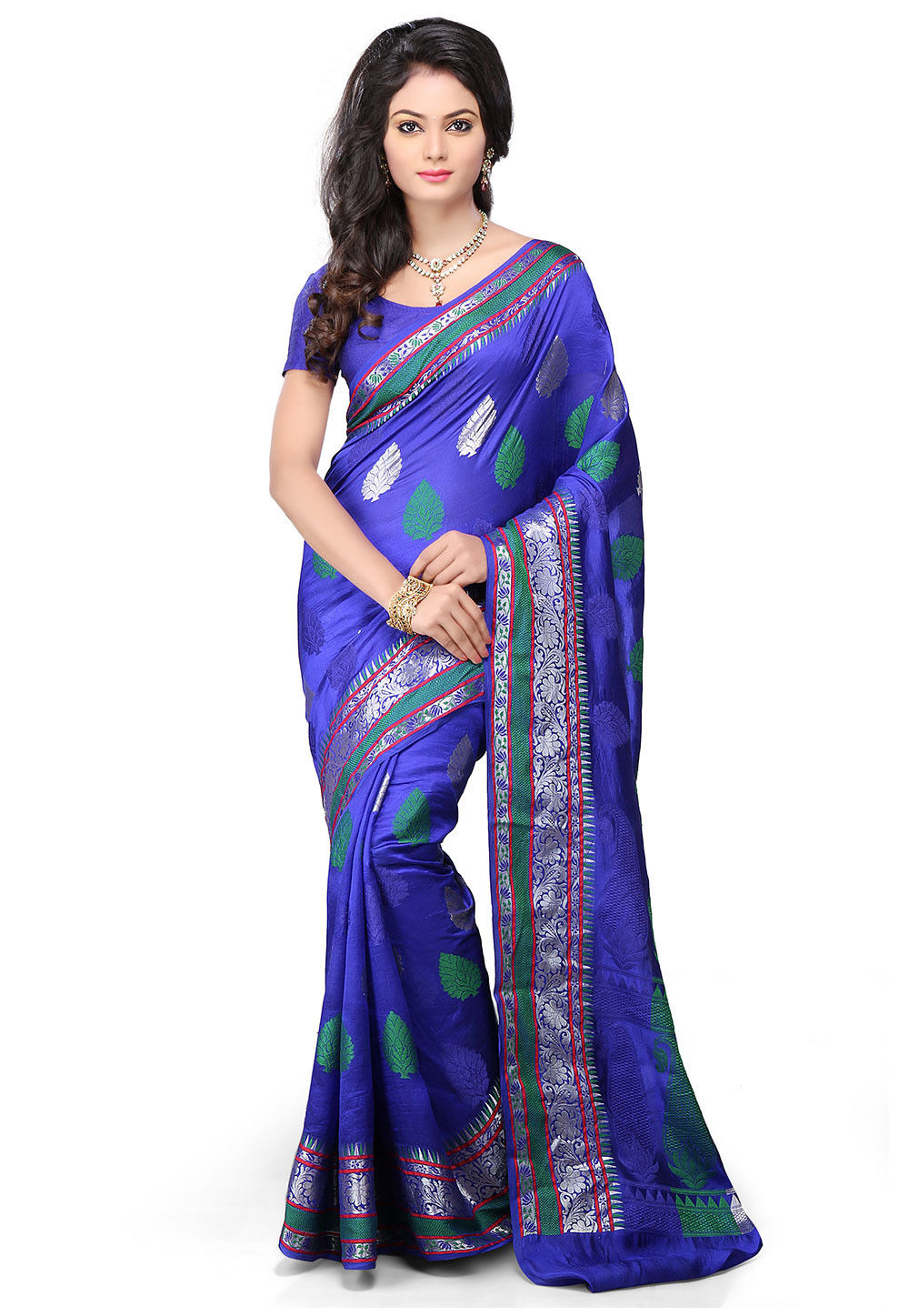 Pure Tussar Silk Saree in Royal Blue