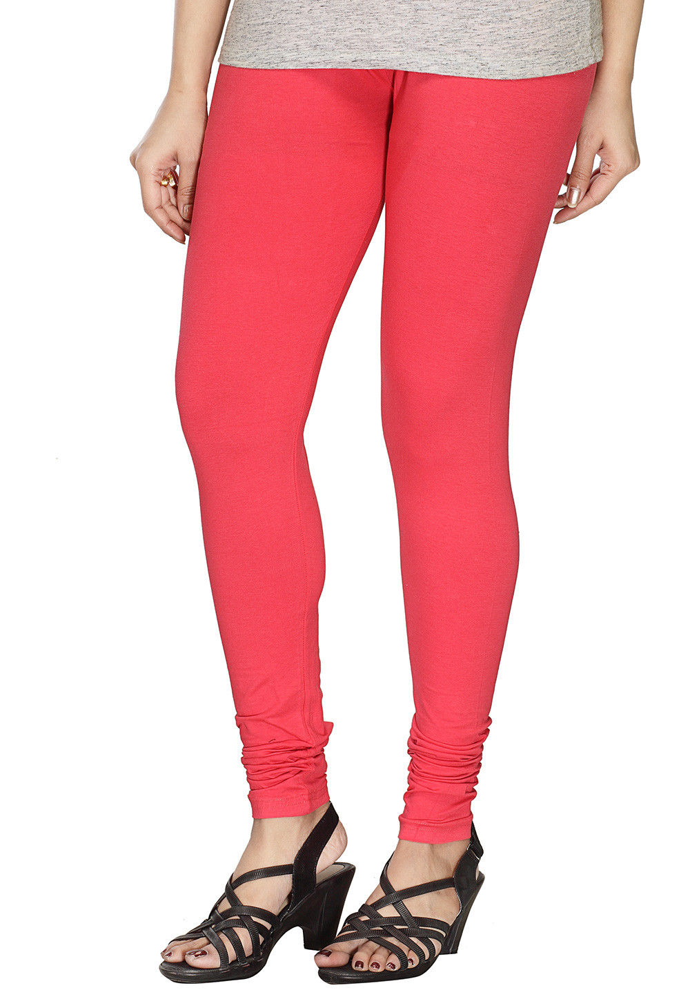 000d63481ad358 ... Solid Color Cotton Lycra Leggings in Coral Pink. Zoom. View Similar