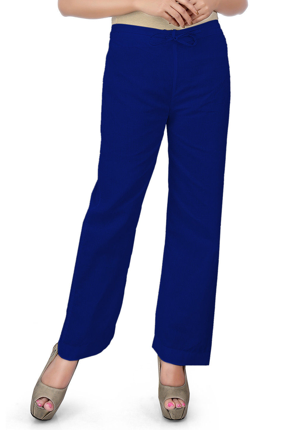 Solid Color Cotton Pant in Royal Blue