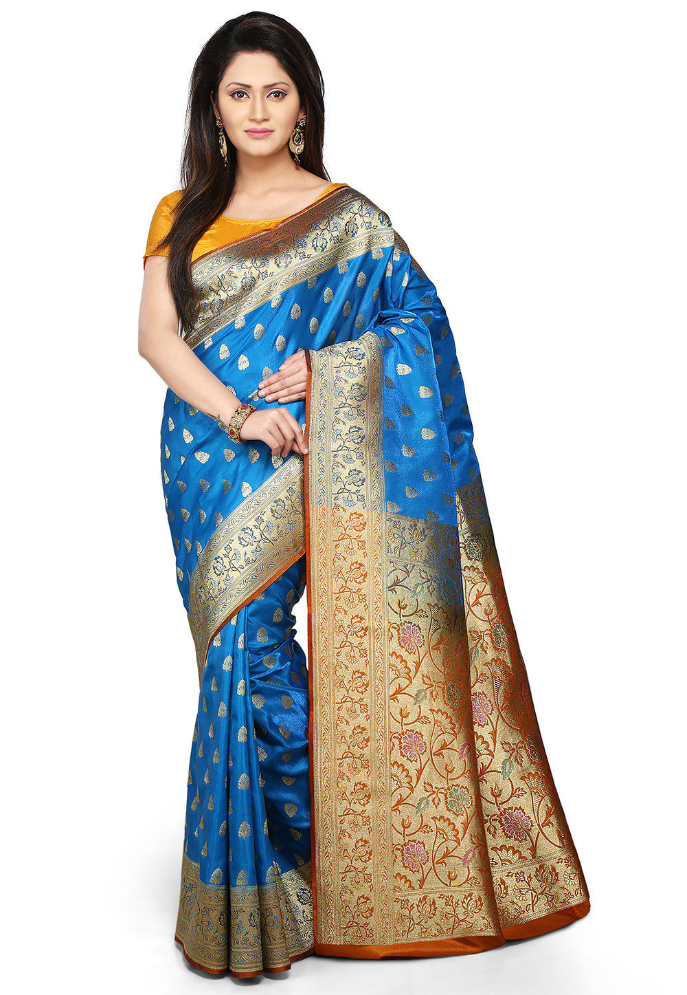 Woven Banarasi Saree in Blue