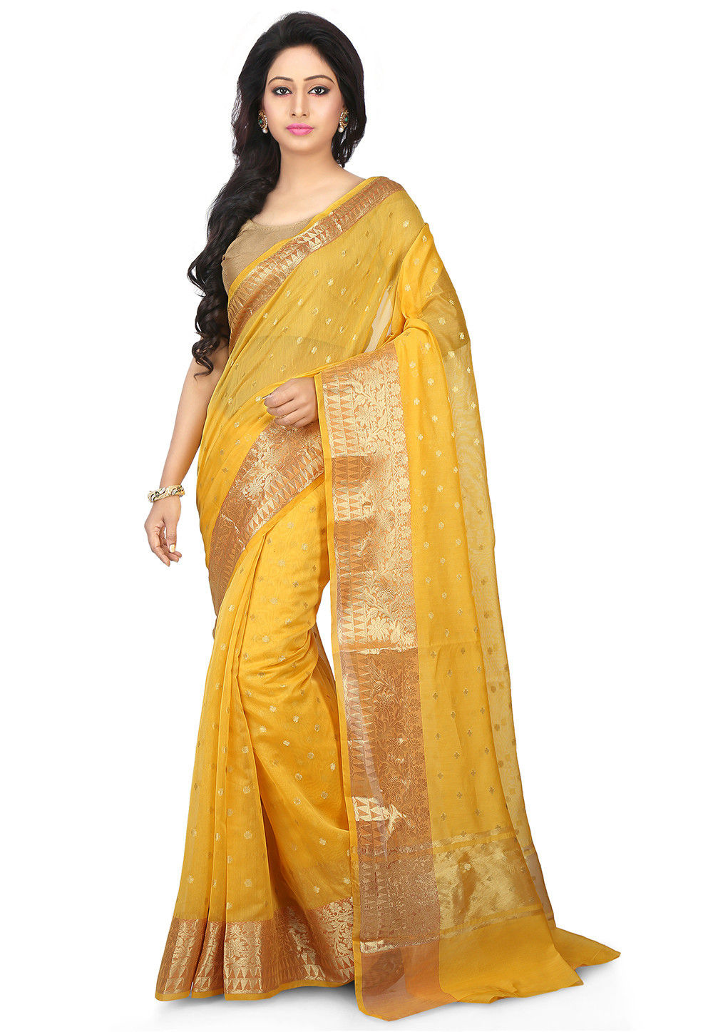 fc7e9350fe39d Yellow Designer Sarees   Yellow Sarees for Wedding