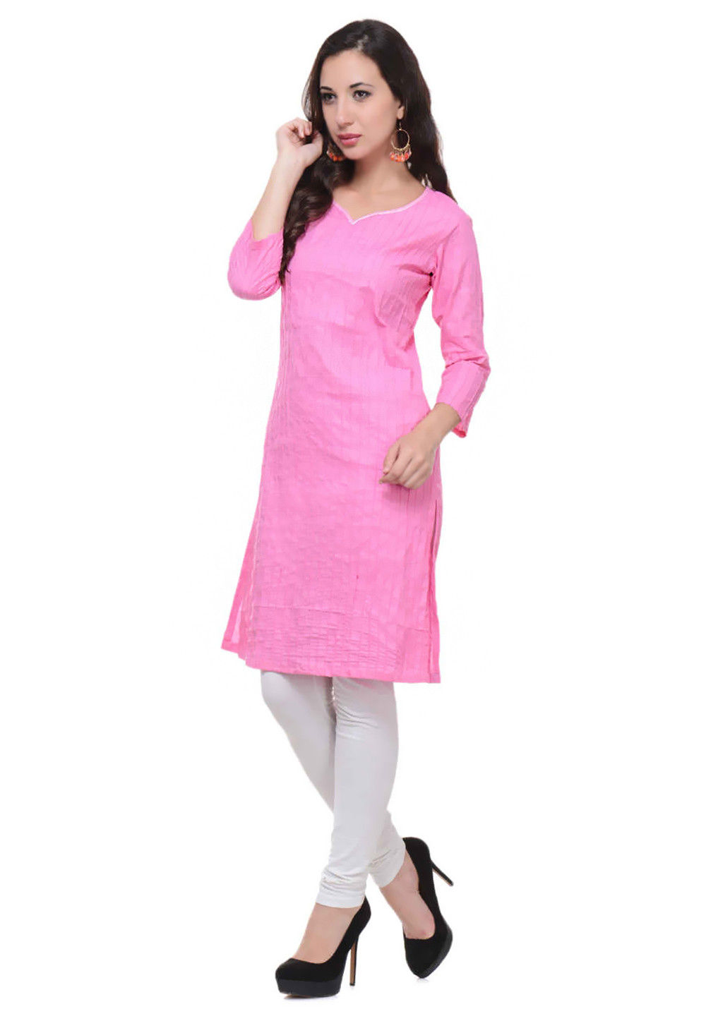Cotton Kurti In Pink