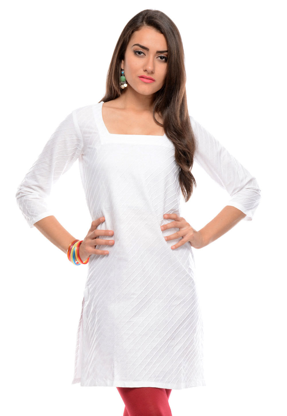 Cotton Kurti In White