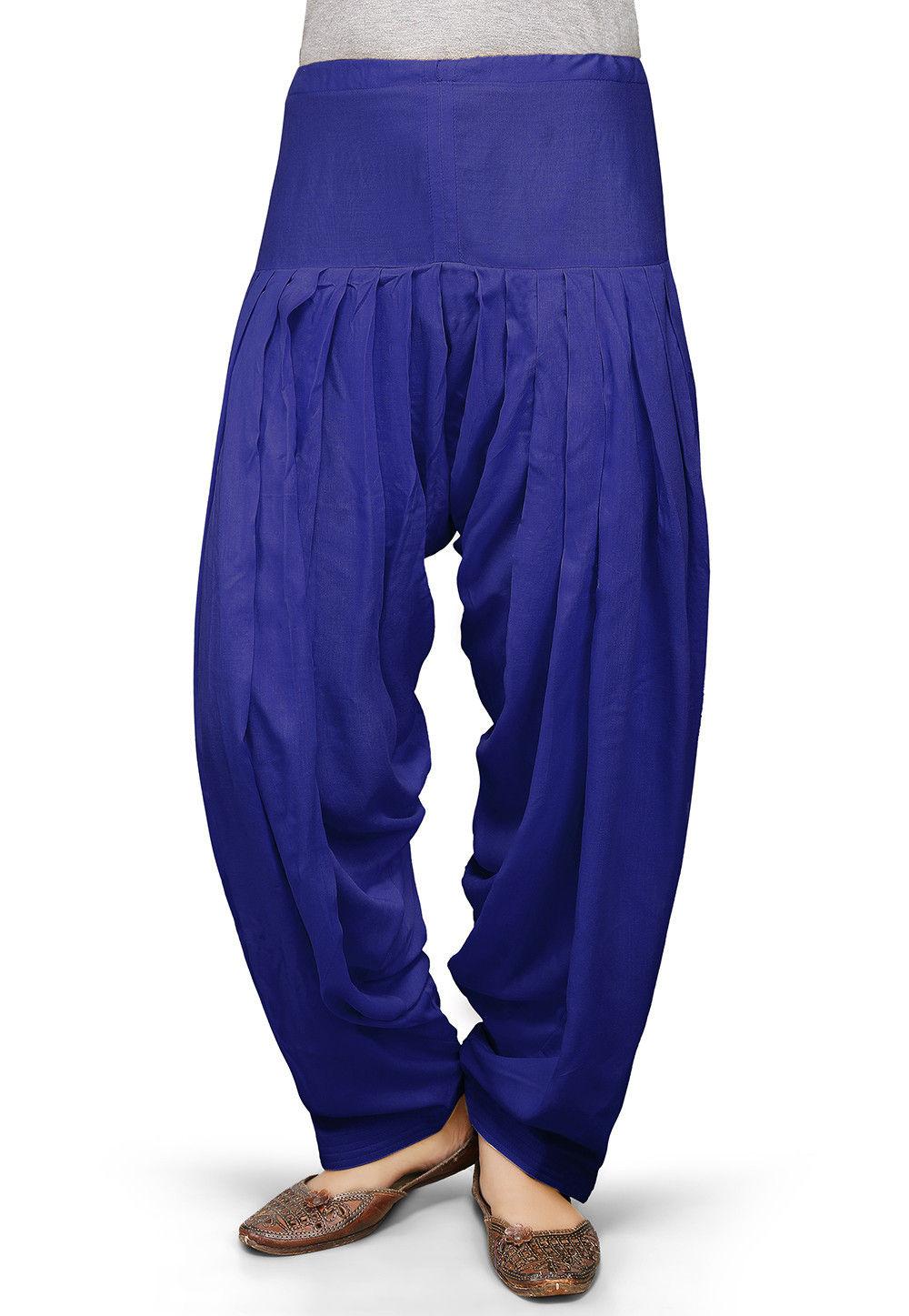 Plain Rayon Salwar in Blue