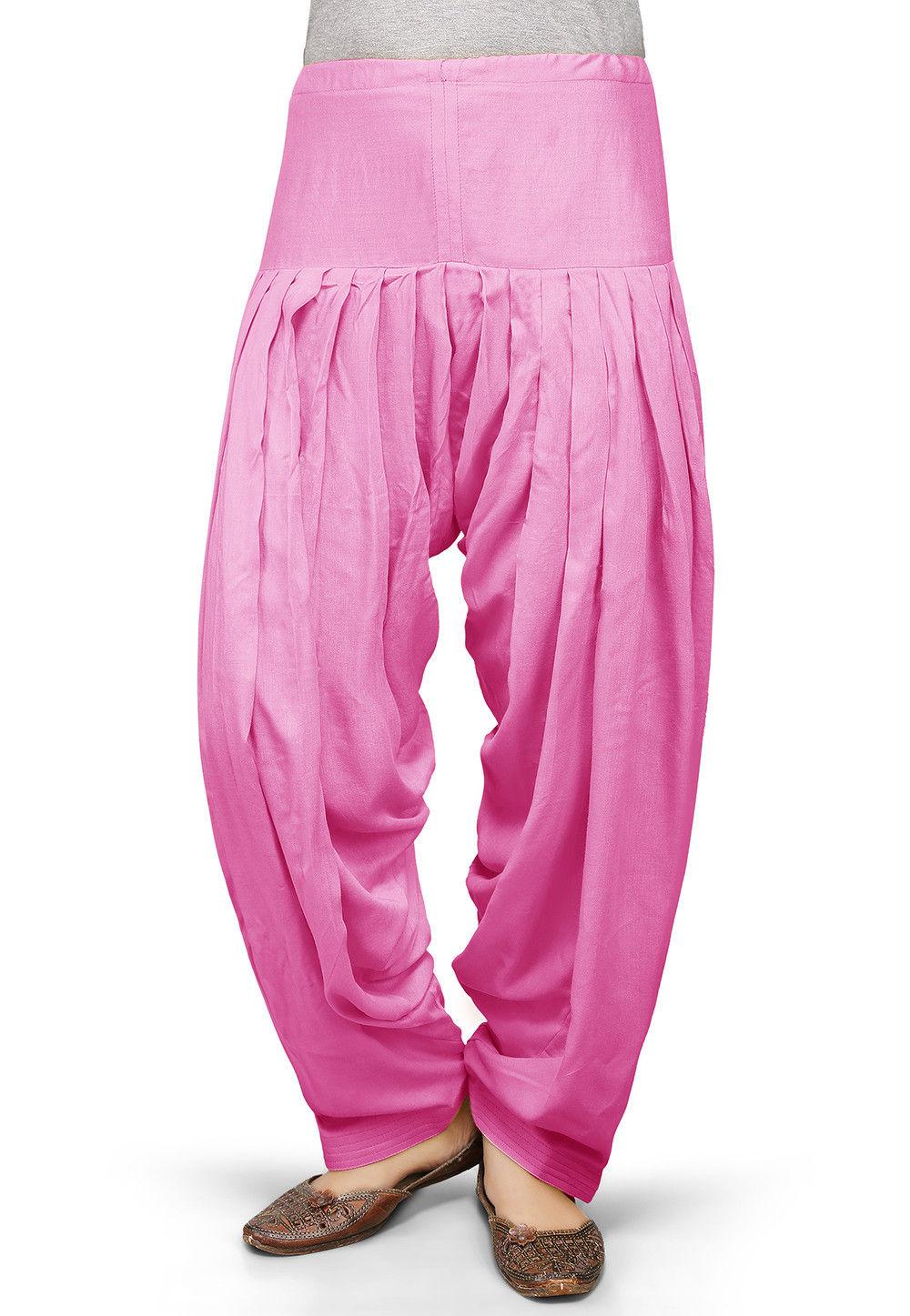 Plain Rayon Salwar in Pink