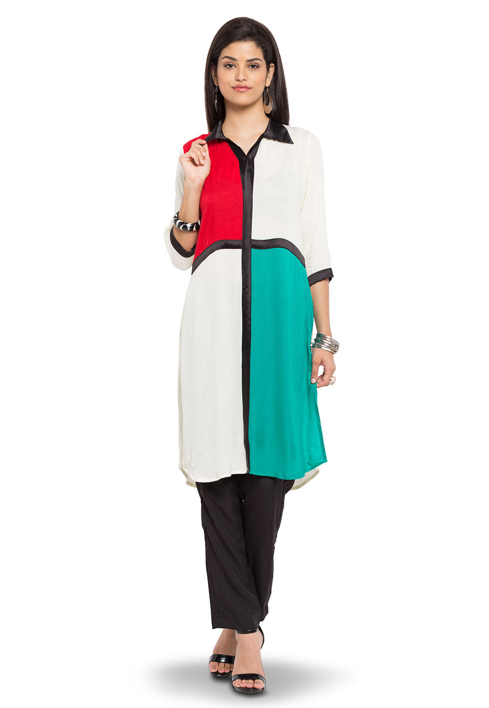 Plain Cotton Tunic in Multicolor