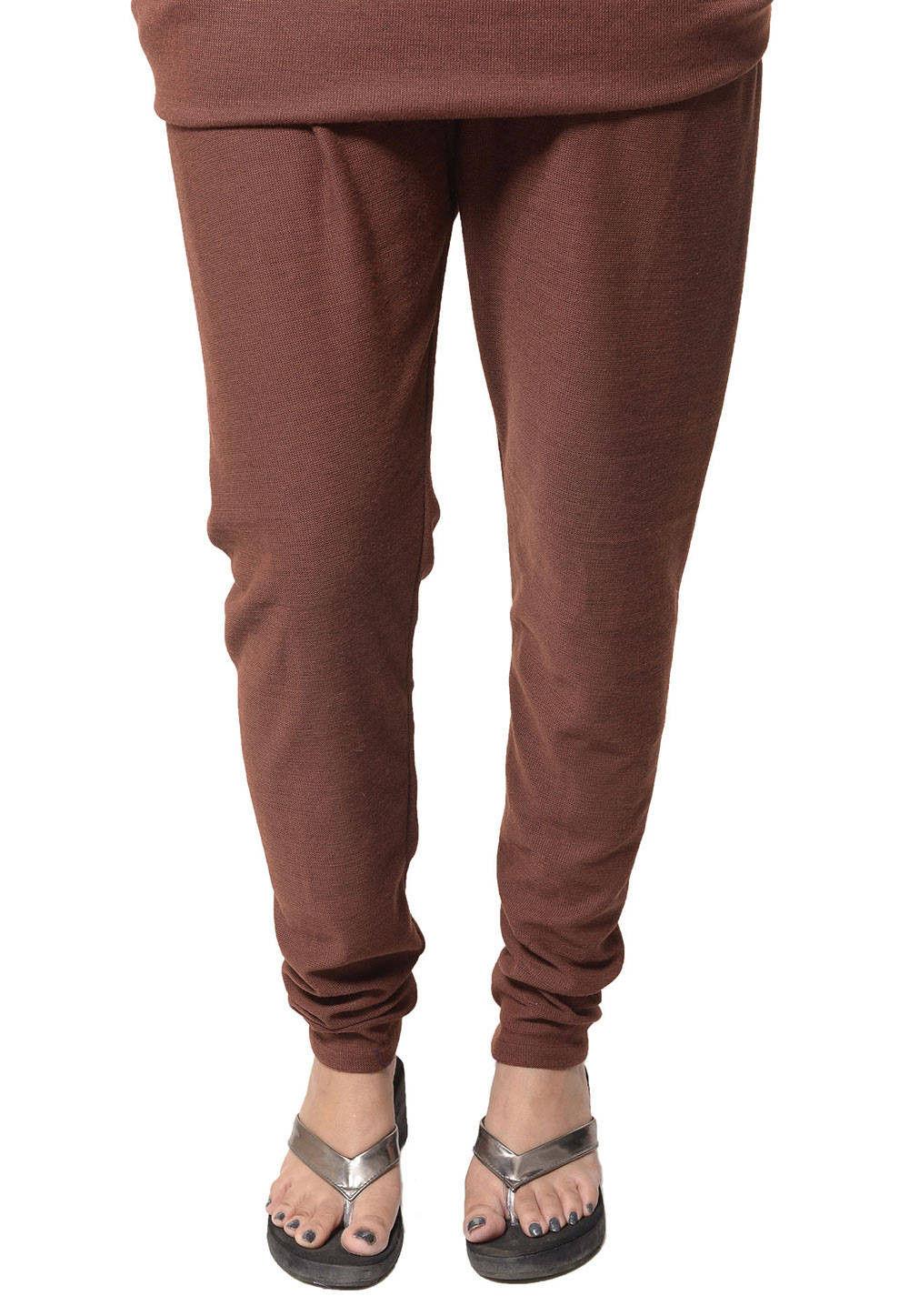 Woolen Legging in Brown