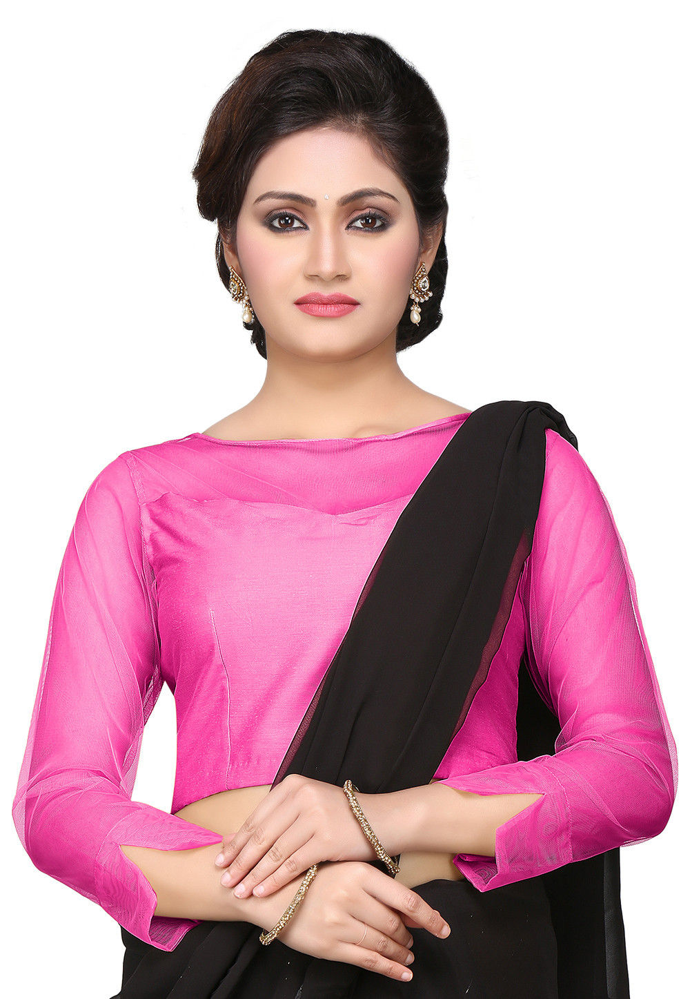 Cotton Silk Blouse in Pink : UAM114