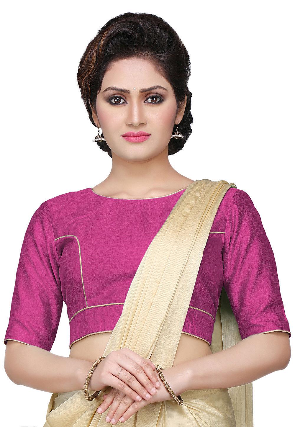 Art Dupion Silk Blouse in Pink